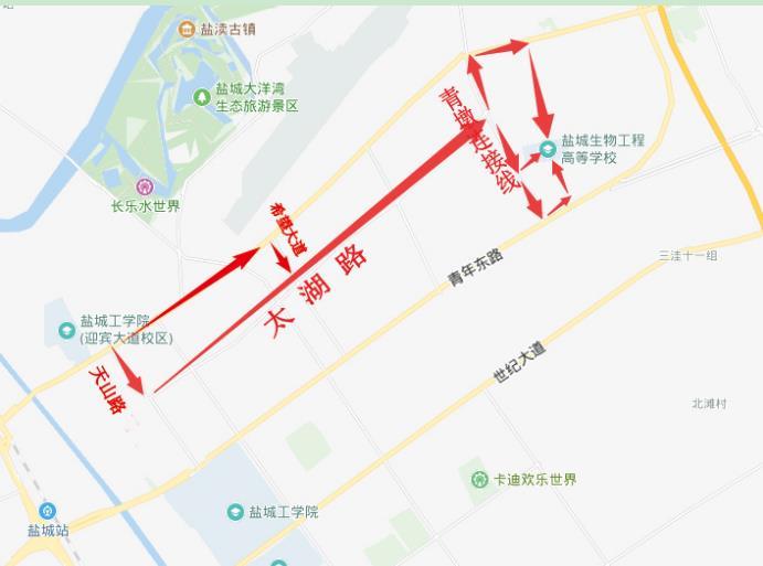 2019江苏盐城一级消防工程师考试考点路线图及考场分布图.jpg